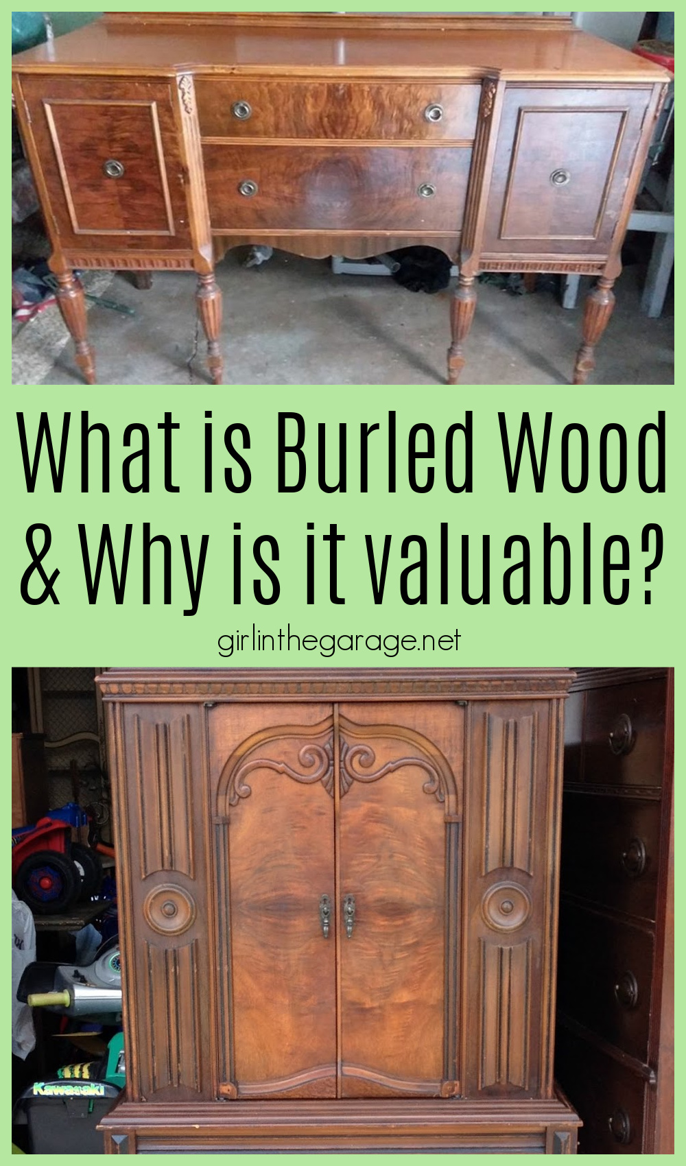 Learn the fascinating history of burled wood and discover why it's so rare and valuable. Also see several examples of burl wood furniture. By Girl in the Garage