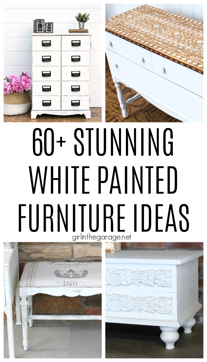 White doesn't have to be boring! Discover 60+ white painted furniture ideas that are stunning in their own unique way. By Girl in the Garage
