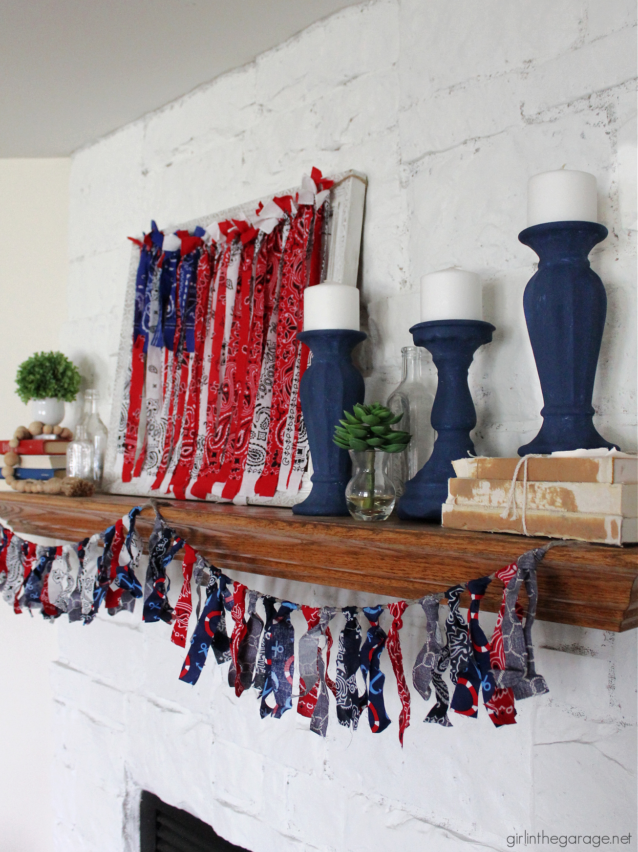 Create easy DIY decor - learn how to paint candle holders. DIY painted furniture and decor ideas by Girl in the Garage