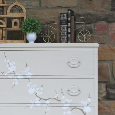 How to Stencil Furniture with Chalk Paint