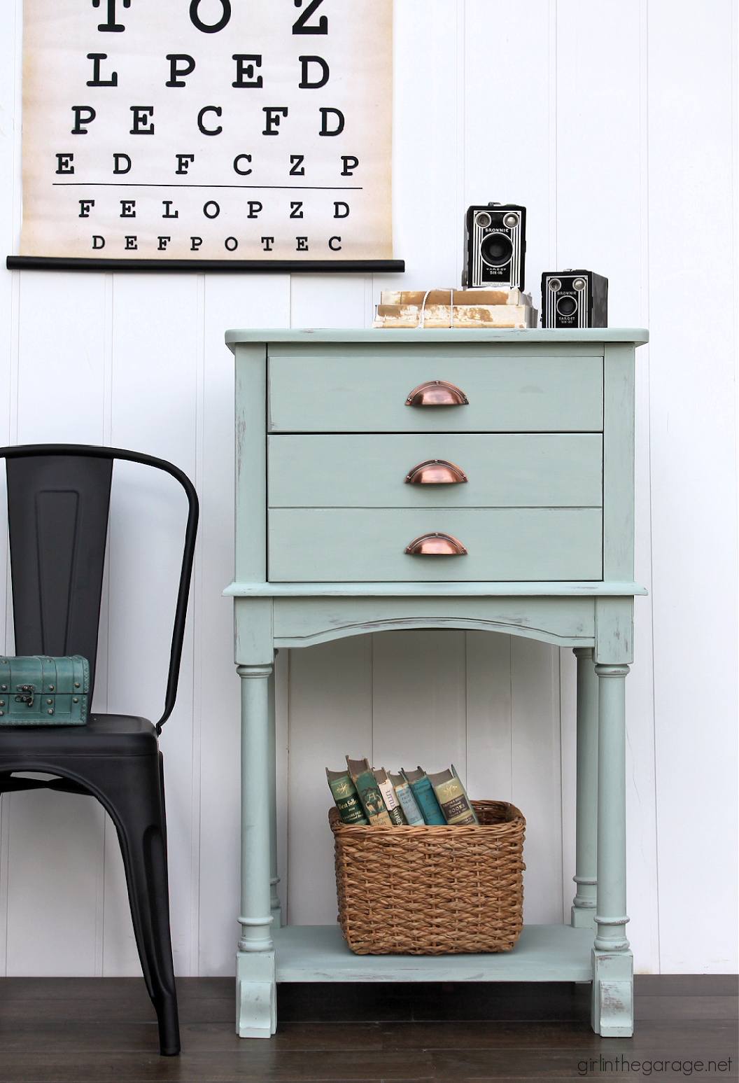 An honest review of Rustoleum Chalked Paint, from someone who loves Annie Sloan Chalk Paint! By Girl in the Garage