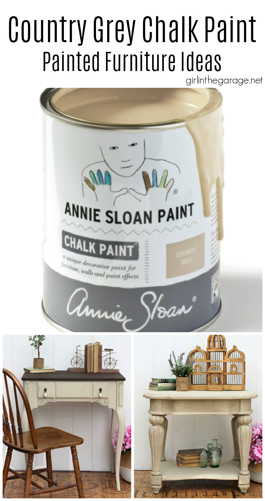 Country Grey Chalk Paint - Painted Furniture Ideas by Girl in the Garage
