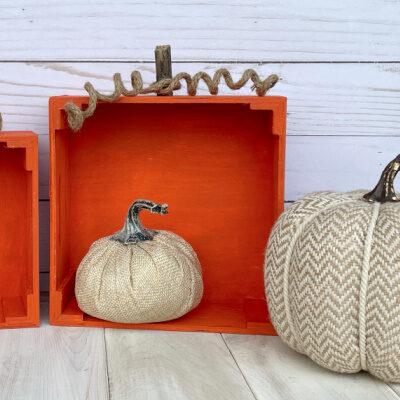 DIY Crate Pumpkins: Easy Fall Decor